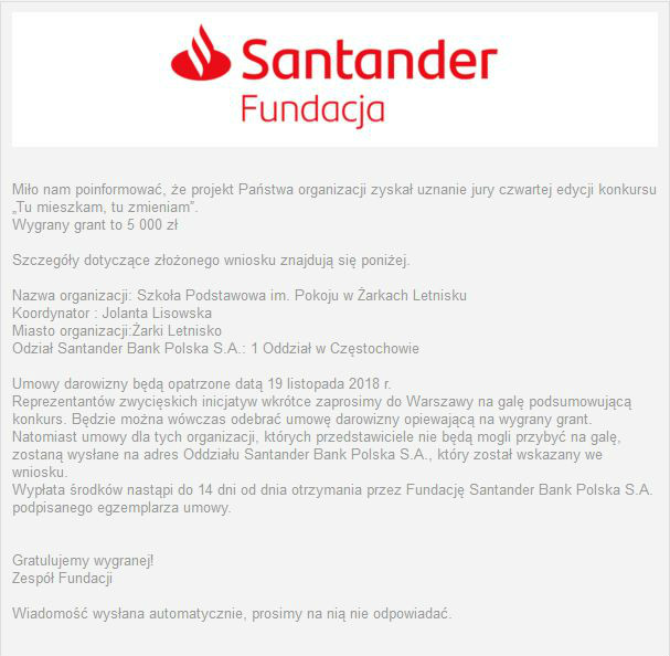 santander Screenshot